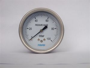 Bottom Back Type 63mm Capsule Low Pressure Gauge of Range 100mbar pictures & photos