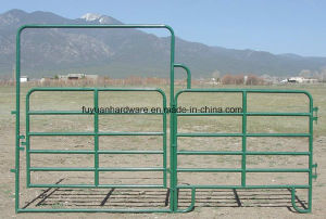 PVC Coated 6 Bar Cattle Yard Farm Gate pictures & photos
