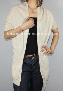 Women V Neck Cardigan Sweater by Knittin (12AW-233)