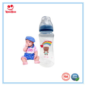 300ml Wide Neck Plastic Baby Feeding Bottle with Nipple pictures & photos