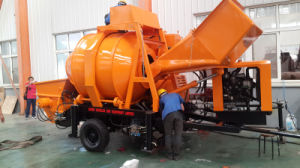 High Equiped Lovol Diesel Engine Concrete Mixing Pump with Hydraulic Lifting System pictures & photos