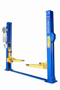 Two Post Floor Plate Hydraulic Lift with CE pictures & photos
