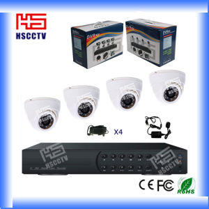 DIY Indoor Outoor 4 CH CCTV Kit Home Security System