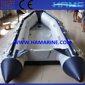 White and Blue Inflatable Boat Md-400