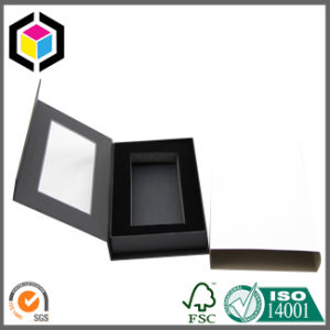 Hinged Lid Black Color Cardboard Paper Packaging Box with Insert pictures & photos
