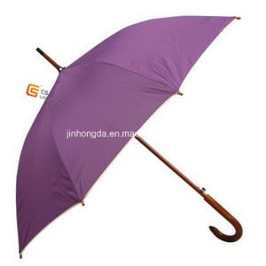 Wooden Shaft and Handle Promotion Straight Umbrella (YS-1007A) pictures & photos