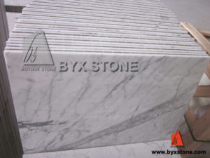 Bianco Carrara Statuario Marble Composite Panel/Tile with Porcelain Backed pictures & photos