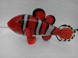 Zibo Boshan Handmade Art Glass Fish Figurine