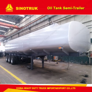 Tri-Axle 4000 Liters Fuel Tank Oil Tank Semi Trailer pictures & photos
