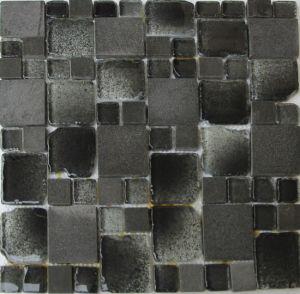 Titanium French Pattern Glass Mosaic Tile for Backsplash