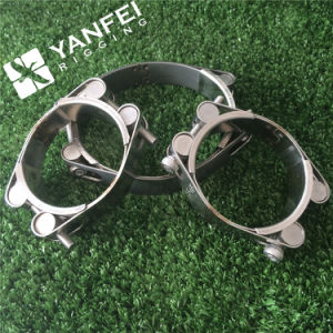 Stainless Steel High Strength Double Bolt Hose Clamp Pipe Clamp pictures & photos