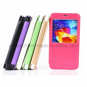 for Galaxy S5 I9600 Window Flip Leather Case pictures & photos