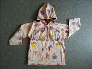 Comfortable Cartoon PU Rain Jacket for Kids pictures & photos