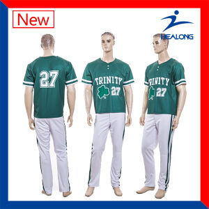 Healong Wholesale Full Sublimation Mens Baseball Jersey Suit pictures & photos