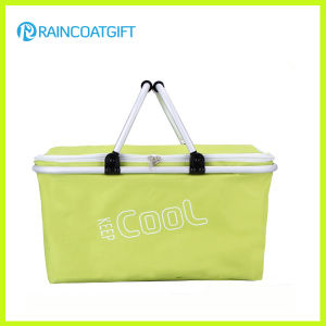 Wholesale Reusable Outdoor Supermarket Foldable Cooler Basket pictures & photos