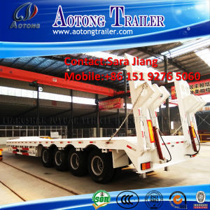 35-80tons Low Boy Truck Trailer/Low Loader Semi Trailer pictures & photos