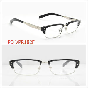 China Half-Rim Optical Eyeglasses / Metal Mix Acetate Legs ...