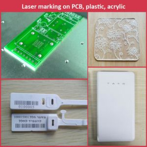Herolaser High Speed Fiber Laser Marker for Metal Nameplate, Electronic Parts Engraving pictures & photos
