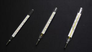 Armpit Use Glass Clinical Mercury Thermometers (CRW23) Temperature Range 35-42