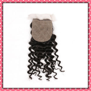 Quality Free Style Human Hair Lace Closure Deep Curly 18inches pictures & photos