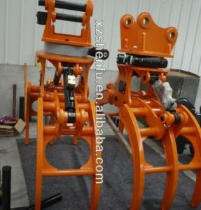 Log Grab for 10t Excavator / Sugarcane Grapple / Rotating Log Grab pictures & photos