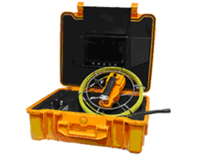 Push Rod Pipe Inspection Camera with 17mm Camera Lens, 7.0′′ LCD, 50m Testing Cable Length