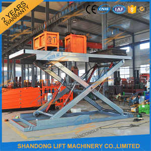 3t 5m Hydraulic Scissor Car Lift Stacker Platform for Sale pictures & photos