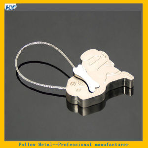 Metal Dog Eat Bone Shaped Steel Wire Keyring Metal Wire Keychain pictures & photos