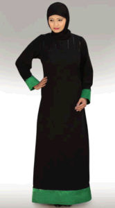 2014 Yyh Fashion Colorblock Long Sleeve Maxi Muslim Dress