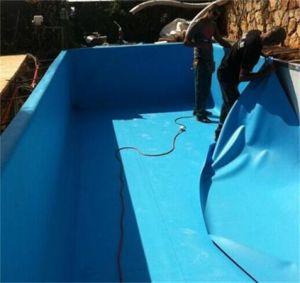 China pvc waterproof membrane pvc building materials for Swimming pool building materials