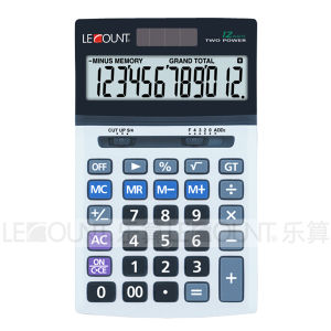 12 Digits Dual Power Office Calculator Measures 180X107X28mm (LC22612)