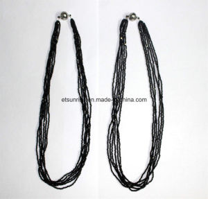 Fashion Gemstone Black Spinel Faceted Beaded Necklace jewelry pictures & photos