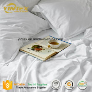 375 Tc 100% Organic Cotton Sateen Luxury Solid Color Soft Bed Sheet Set pictures & photos