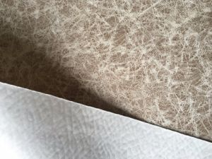 Suede Sofa Fabric with Leather Looking Printed Fabric (LXP006) pictures & photos