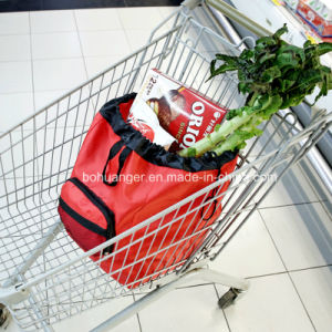 190t Polyester Fashion Reusable Shopping Trolley Bag for Supermarket