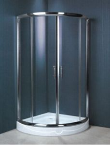 Tempered Glass Stainless Steel Frame Safe Shower Enclosure (H004) pictures & photos