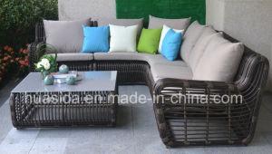Big Circle PE Rattan Sofa for Hotel/Pool/Garden pictures & photos
