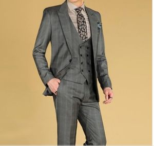 New Italian Style Business Men′s Brown Wool Suit pictures & photos