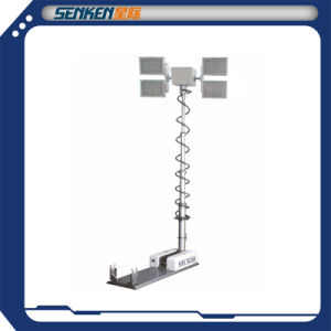 3.5 Meter High Mast Lighting Equipment Site Scan Tower Light 4 LED Lamps Vehicle Lighting Tower pictures & photos