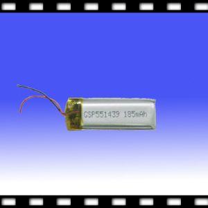 GPS Battery, Li Ion Polymer Battery Cell 3.7V 185mAh (CHX551439)