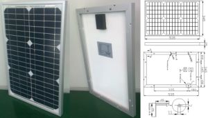 18V 20W 25W Monocrystalline Solar System Panel PV Module with Ce Approved pictures & photos