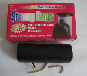 Garbage Bags on Roll with Color Box