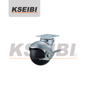 Good Performance Kseibi Ball Swivel Plate Caster with Brake pictures & photos