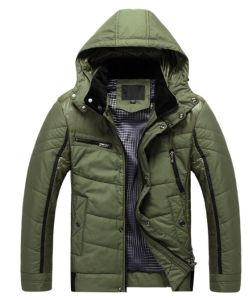 Mens Fashion Winter Coat Jacket with Detachable Hood pictures & photos