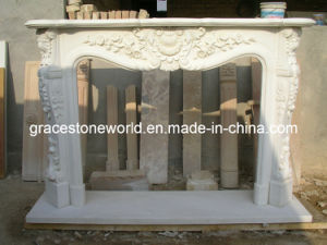 Nice Carved Marble Mantel Fireplace (GS-FF-063) pictures & photos