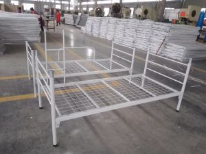China Steel Metal Dormitory Use Seperatly Metal Bunk Beds pictures & photos
