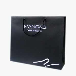 Matte Black Colour Paper Package Bag (YY-P0100) pictures & photos