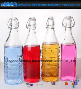 1000ml Swing Clip Top Kitchen Preserving Glass Oil Storage Bottle pictures & photos