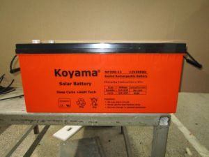 Deep Cycle Gel Solar Battery 12V200ah for Solar Power System pictures & photos