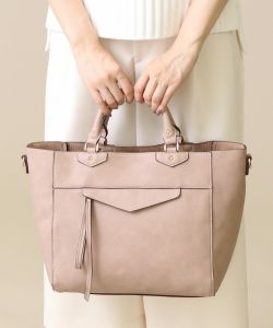 Ladies PU Handbags Tote Bag---China Leading Handbags Manufacturer pictures & photos